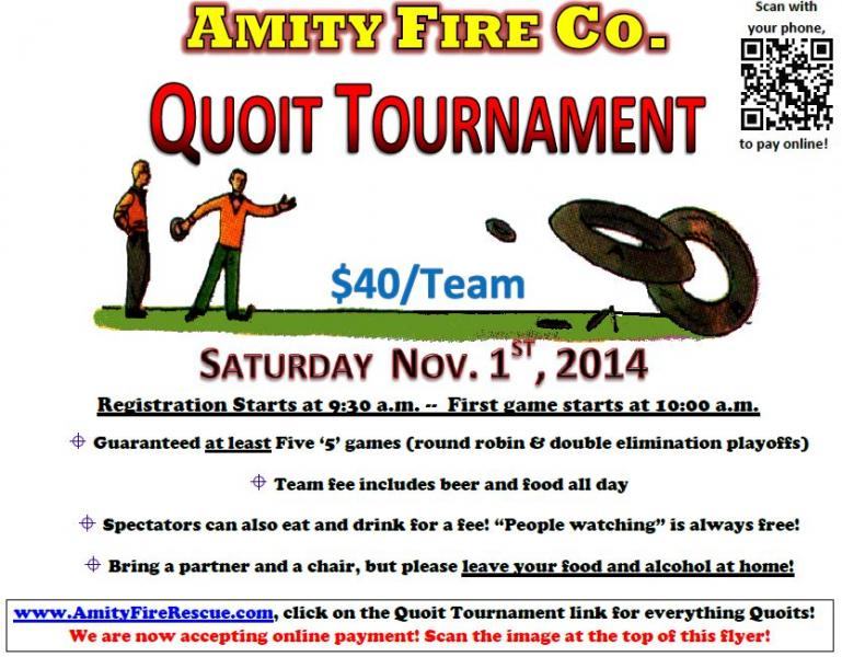 Quoit Tournament Scheduled for Sat. Nov 1st