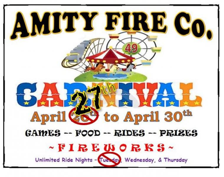 Carnival – April 27th to the 30th